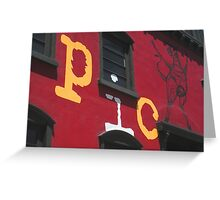 Picca Facade Greeting Card