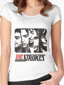 The Strokes Band Music T-Shirt Women's Fitted Scoop T-Shirt