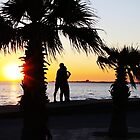 Sunset in St Kilda Beach by nicomelbourne