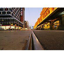 Tram track Photographic Print