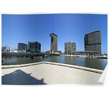 Southbank from the Docklands Poster