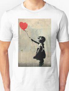 Banksy Red Heart Balloon Unisex T-Shirt