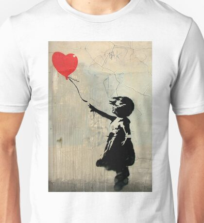 Banksy Red Heart Balloon Unisex T-Shirt