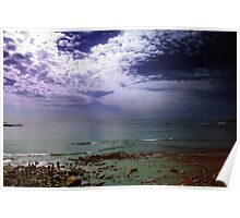 Rain Clouds Over the Ocean Poster