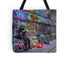 A Girl and Three Decks Tote Bag