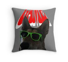 DOG IN GAME Throw Pillow