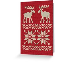 Moose Pattern Christmas Sweater Knit Greeting Card