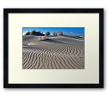 Shapes and patterns in the sand CHALLENGE Framed Print