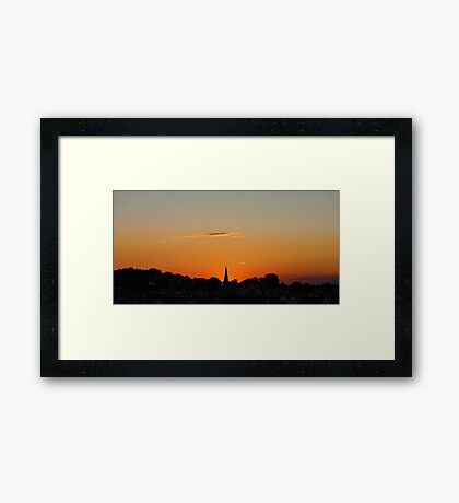 Sunset @ The Fort Framed Print
