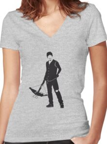 Daryl  Women's Fitted V-Neck T-Shirt
