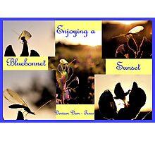 Enjoying A Bluebonnet Sunset Photographic Print