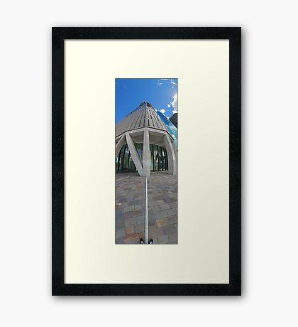 Shoes To Sky | Riparian Plaza Framed Print