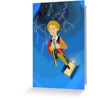 6th Doctor in the Time Vortex Greeting Card