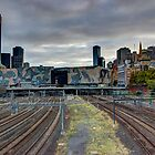 Flinders Street Station Train Tracks by Davisoncraig