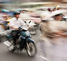 Ho Chi Minh motorbikes by Brendon Doran