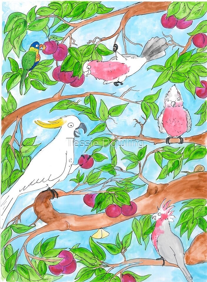 Plum tree party by Tessie Dowling