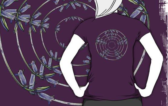 Wild Scottish Bluebell T-Shirt by simpsonvisuals