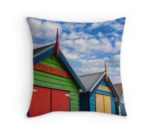 Brighton Beachhouses Throw Pillow