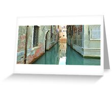 The Canal in Venice Greeting Card