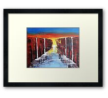 Reaching the End Framed Print