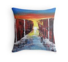 Reaching the End Throw Pillow