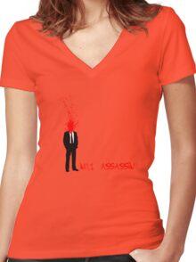 No.1 Assassin Women's Fitted V-Neck T-Shirt