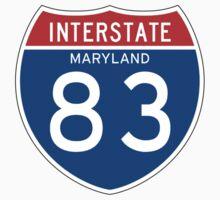 Interstate Sign 83 Maryland, USA One Piece - Short Sleeve