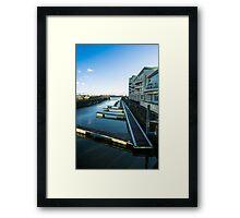 Cardiff Bay Pontoons Framed Print