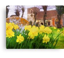 Spring Daffodils England Canvas Print