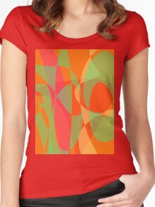 The Sun through the Orange Leaves Women's Fitted Scoop T-Shirt