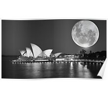 Full moon over Sydney Opera House - Australia Poster