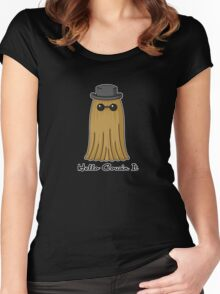 Hello cousin! -black-  Women's Fitted Scoop T-Shirt