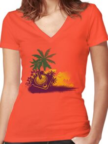 Summer Gaming Women's Fitted V-Neck T-Shirt