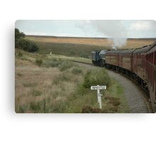 The Sir Nigel Gresley British Railways Number 60007 travelling through the North Yorshire Moors Canvas Print