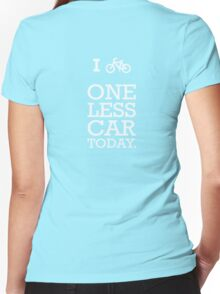 ONE LESS CAR  Women's Fitted V-Neck T-Shirt