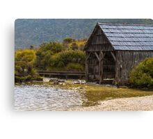 Dove Lake Boat Shed, Tasmania Canvas Print