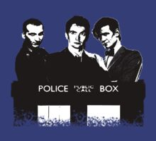 A Multi Doctor Story in Black and White T-Shirt