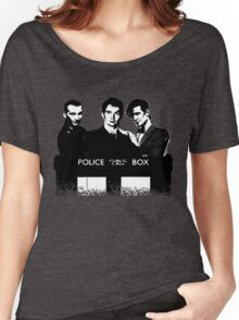 A Multi Doctor Story in Black and White Women's Relaxed Fit T-Shirt