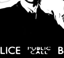 A Multi Doctor Story in Black and White Sticker