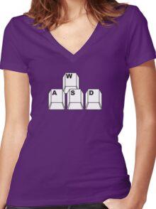 WASD Women's Fitted V-Neck T-Shirt