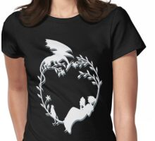 Ex Libris - White silhouette with shadow Womens Fitted T-Shirt