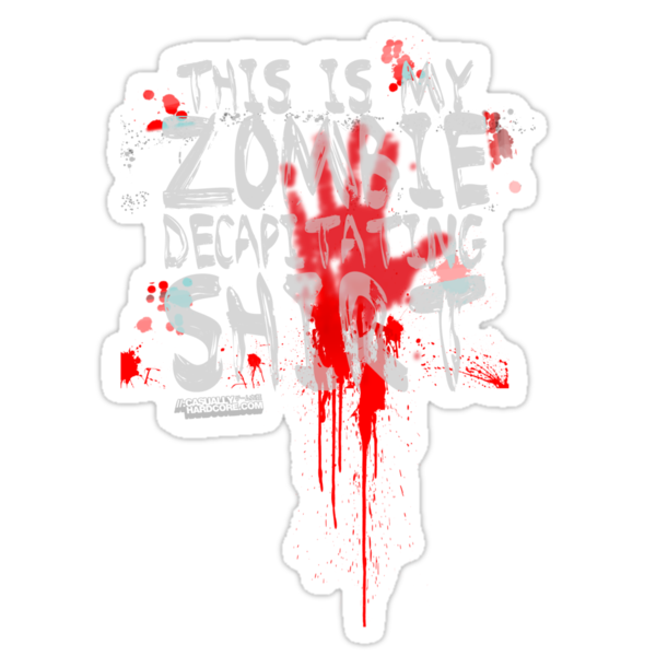 This is my zombie decapitating Shirt by GeekGamer