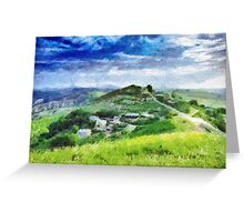 Ptikent village painting Greeting Card