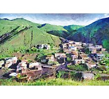 Mauntain village painting Photographic Print