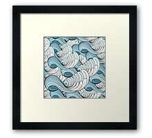 sea ​​waves Framed Print