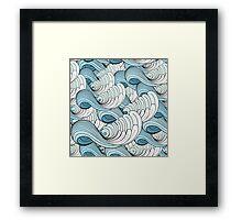 sea waves Framed Print