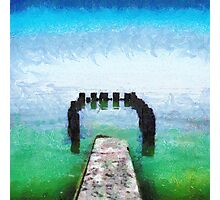 Remains of old pier painting Photographic Print