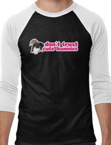Don't Trust Cute Bunnies Men's Baseball ¾ T-Shirt