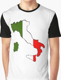 Map of Italy Graphic T-Shirt