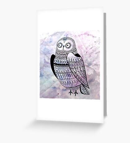 graphic owl Greeting Card